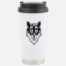 Tribal Wolf 2 Travel Mug