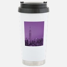 Purple NYC Skyline Travel Mug
