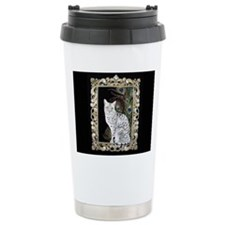 Silver Egyptian Mau Travel Mug