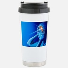 Artwork of woman with h Stainless Steel Travel Mug