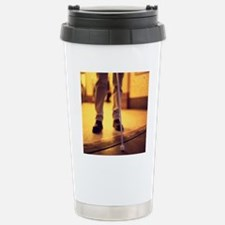 Blind man walking Travel Mug