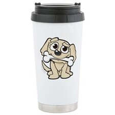 Puppy with Bone Travel Mug