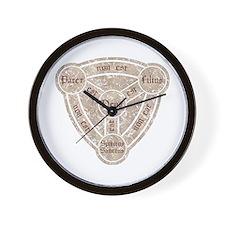 Shield of The Trinity Wall Clock