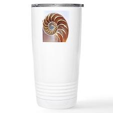 Nautilus shell Travel Coffee Mug