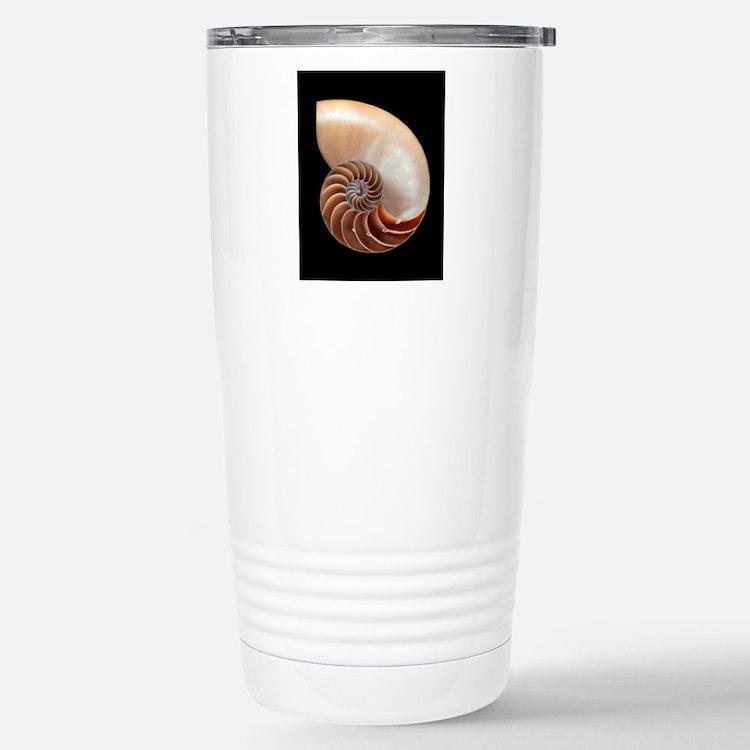 Nautilus shell Stainless Steel Travel Mug