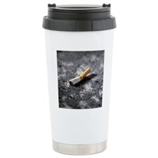Cigarette butt and ash Travel Mug