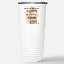 Journaling Instructions Stainless Steel Travel Mug