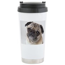 Close up of the face of Travel Mug