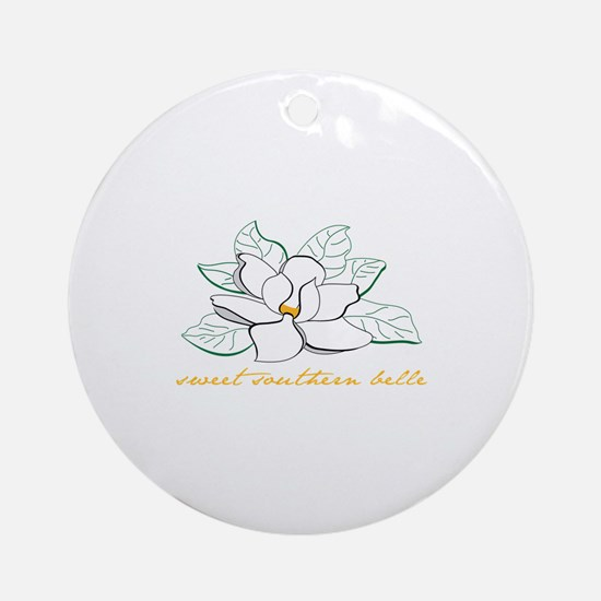 Sweet southern belle Ornament (Round)