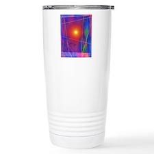 Computer artwork depict Travel Coffee Mug