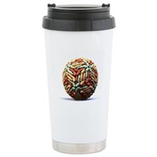 Dengue virus particle Travel Mug