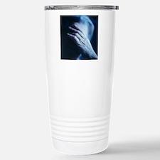 Depressed elderly woman Stainless Steel Travel Mug
