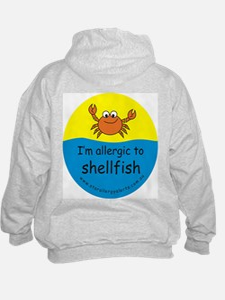 I'm allergic to shellfish Hoodie-back design