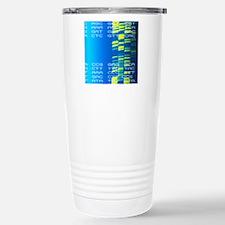DNA autoradiogram and c Stainless Steel Travel Mug