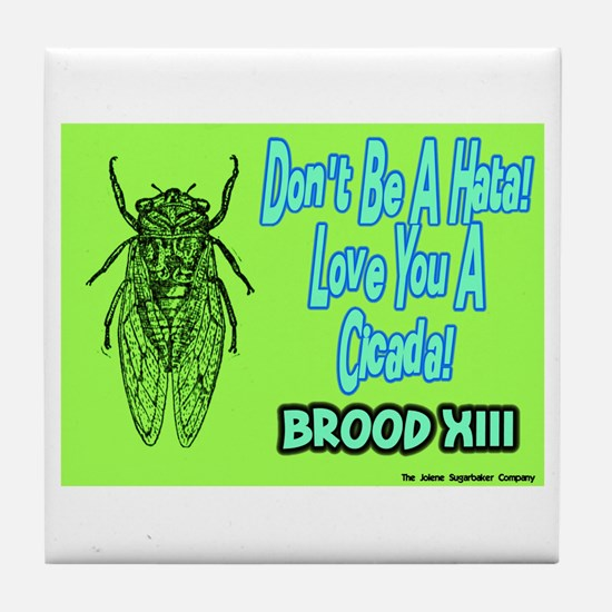 Don't Be A Hata Love You A Cicada Tile Coaster