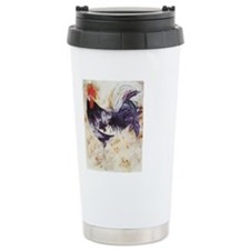 Painted rooster Travel Coffee Mug