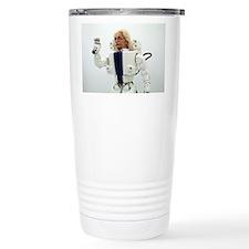 Robot Albert Einstein w Travel Mug