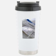 DNA sample and results Stainless Steel Travel Mug