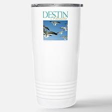 Seagulls in flight Travel Mug