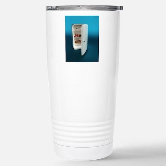 Fridge, computer artwor Stainless Steel Travel Mug