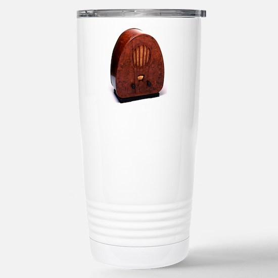 Bakelite radio Stainless Steel Travel Mug