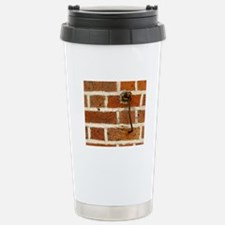 Latch Hook on Brick Wal Travel Mug