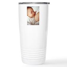 Baby girl breastfeeding Travel Mug