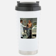 ECG stress test on male Stainless Steel Travel Mug