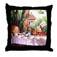 The Mad Hatter's Tea Party Throw Pillow