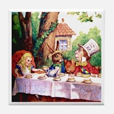 The Mad Hatter's Tea Party Tile Coaster