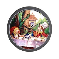 The Mad Hatter's Tea Party Wall Clock