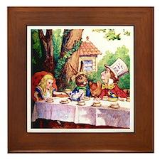 The Mad Hatter's Tea Party Framed Tile