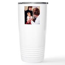 GP doctor examines chil Travel Mug