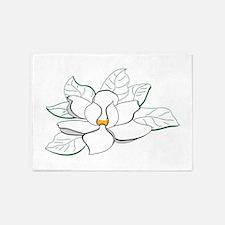 Magnolia Flower 5'x7'Area Rug