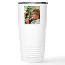 Lung function: boy brea Travel Mug
