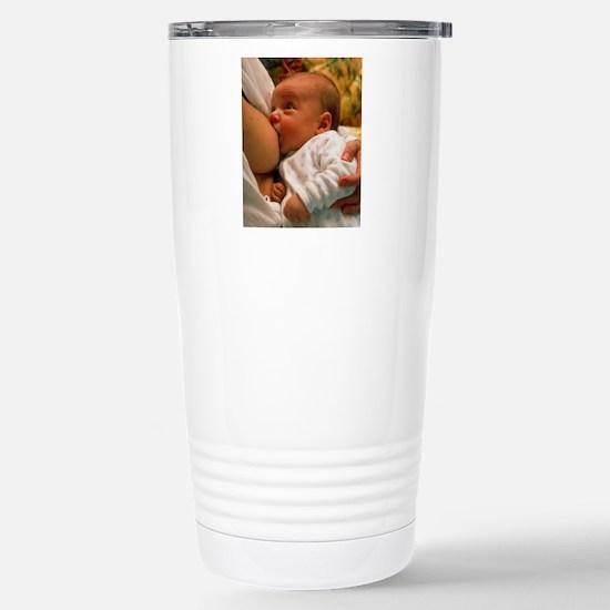 Mother breast-feeding h Stainless Steel Travel Mug