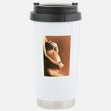 Naked torso of pregnant Stainless Steel Travel Mug