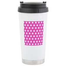 Hot Pink Dots Travel Mug