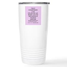 ALICE QUOTE Travel Mug