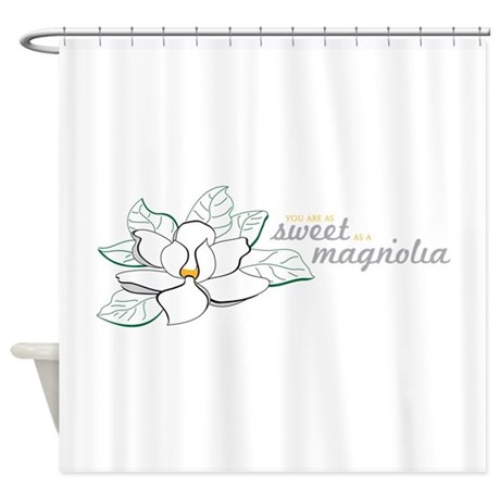 sweet magnolia shower curtain