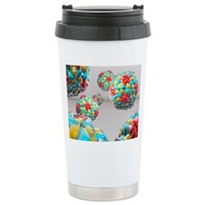 Rhinovirus particles Travel Mug