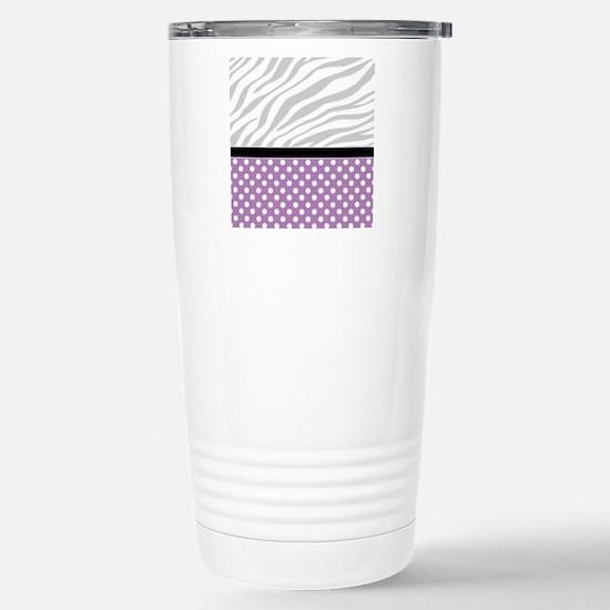 Purple Polka Dot Faded  Stainless Steel Travel Mug