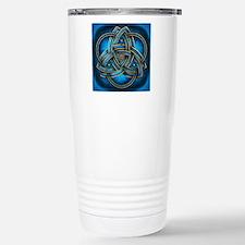 Blue Celtic Triquetra Travel Mug