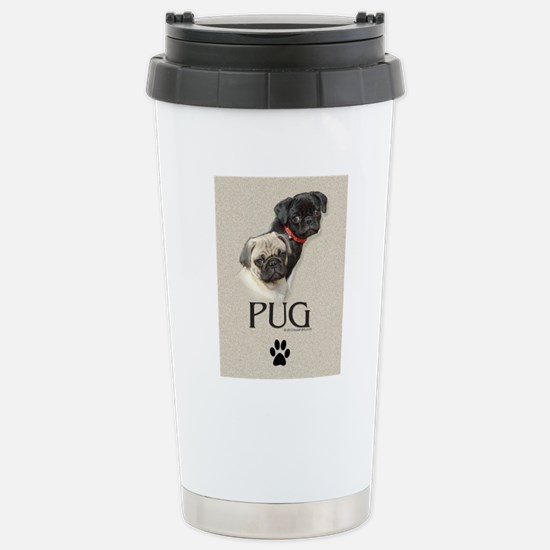 Two Pugs Stainless Steel Travel Mug