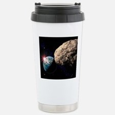Asteroid approaching Ea Travel Mug