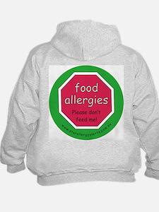 food allergies don't feed Hoodie-back design