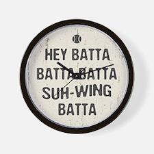 Hey Batta Batta 814 Wall Clock