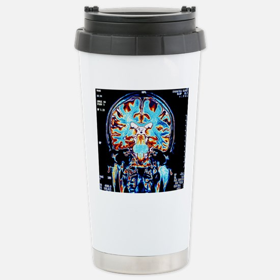 Coloured MRI scans of t Stainless Steel Travel Mug