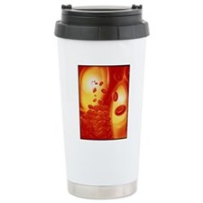 Computer artwork of a b Travel Coffee Mug