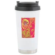 Computer artwork of a b Travel Mug